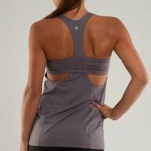 Lululemon Turbo Tank Grey SZ 12